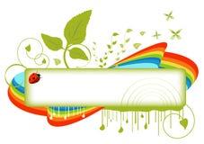 Bandera floral Imagen de archivo libre de regalías