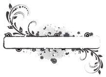Bandera floral abstracta Stock de ilustración