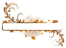 Bandera floral abstracta libre illustration