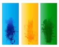 Bandera floral abstracta colorida Fotografía de archivo
