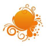 Bandera floral anaranjada