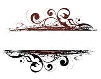 Bandera floral de Grunge ilustración del vector