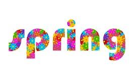 Bandera floral de la primavera Fotos de archivo libres de regalías