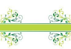 Bandera floral (vector) ilustración del vector