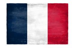Bandera francesa destruida imagenes de archivo