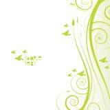 Bandera frondosa verde ilustración del vector