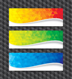 Bandera geométrica stock de ilustración