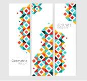 Bandera geométrica abstracta Imagenes de archivo