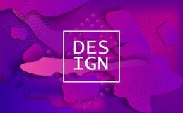 Bandera geométrica Carteles mínimos del diseño stock de ilustración