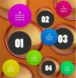 Bandera geométrica de la opción de los pasos de Infographics Foto de archivo libre de regalías