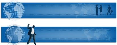 Bandera global del diseño stock de ilustración