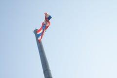 Bandera grande de Tailandia imagenes de archivo