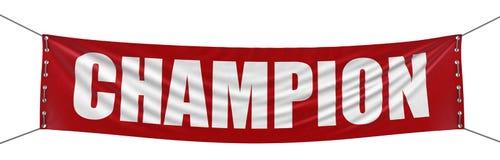 Bandera grande del campeón stock de ilustración