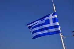 Bandera griega foto de archivo libre de regalías
