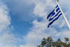 Bandera griega Fotografía de archivo libre de regalías