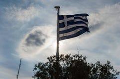 Bandera griega Imagen de archivo libre de regalías