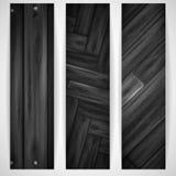 Bandera gris de madera. stock de ilustración