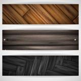 Bandera gris de madera. ilustración del vector