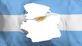 Bandera hecha andrajos de la Argentina libre illustration