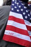 Bandera hecha en los E.E.U.U. Imagen de archivo