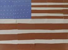 Bandera hecha a mano de los E.E.U.U. Imagenes de archivo