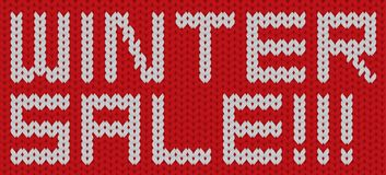 Bandera hecha punto vector de la textura de la venta del invierno libre illustration