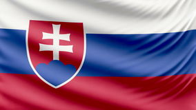 Bandera hermosa realista 4k de Eslovaquia almacen de video