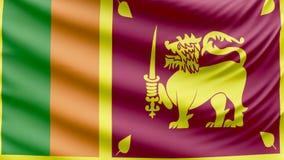 Bandera hermosa realista 4k de Sri Lanka almacen de video