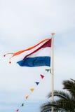 Bandera holandesa imagen de archivo