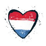 Bandera holandesa bajo la forma de corazón grande Ilustraci?n del vector imagenes de archivo