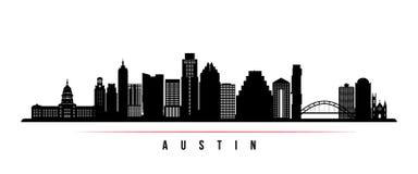 Bandera horizontal del horizonte de la ciudad de Austin