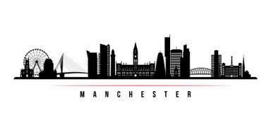 Bandera horizontal del horizonte de Manchester City libre illustration