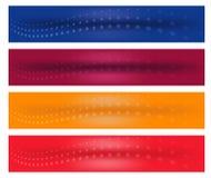 Bandera horizontal del Web stock de ilustración
