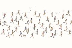 Bandera inconsútil de los corredores de maratón minúsculos libre illustration