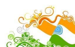Bandera india floral Imágenes de archivo libres de regalías