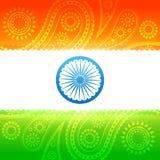 Bandera india hermosa Foto de archivo