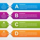 Bandera infographic abstracta de las opciones Elementos del diseño Fotografía de archivo