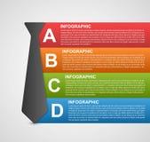 Bandera infographic abstracta de las opciones Elementos del diseño Fotos de archivo