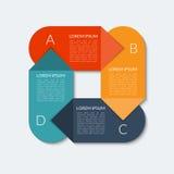 Bandera infographic de la flecha moderna stock de ilustración