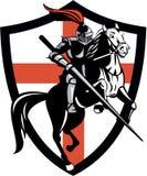 Bandera inglesa de Riding Horse England del caballero retra Imagenes de archivo