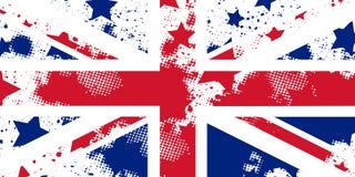 Bandera inglesa del grunge del vector Union Jack El usar para los trabajos de la decoración Imagen de archivo libre de regalías