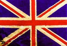 Bandera inglesa en el papel marrón viejo Foto de archivo libre de regalías