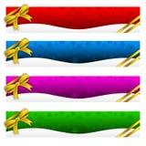 Bandera, invierno, días de fiesta, la Navidad Imágenes de archivo libres de regalías