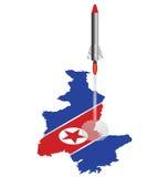 Bandera isométrica de Corea del Norte Imágenes de archivo libres de regalías