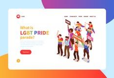 Bandera isométrica homosexual libre illustration