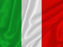 Bandera italiana Foto de archivo libre de regalías