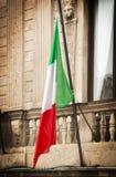 Bandera italiana Imágenes de archivo libres de regalías
