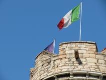 Bandera italiana Fotografía de archivo