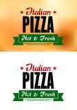 Bandera italiana de la pizza Fotografía de archivo