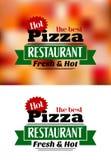 Bandera italiana de la pizza stock de ilustración